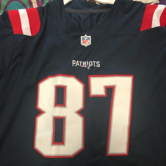 Patriots Rob Gronkowski Color rush jersey